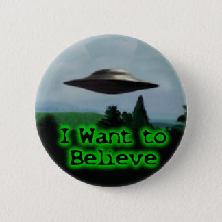 I want to believe pinback button