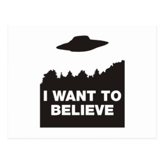 I Want to Believe Post Cards