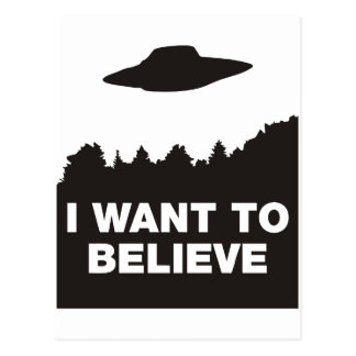 I Want to Believe Post Card