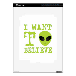 I Want To Believe Skin For iPad 3