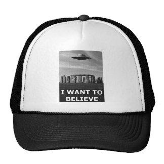 I want to believe (stonehenge) gorro de camionero