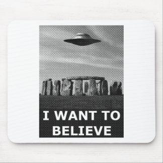I want to believe (stonehenge) mousepads