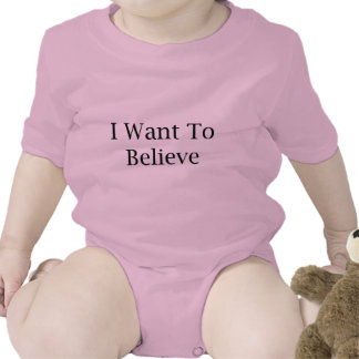 I Want To Believe Tee Shirts
