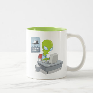 I Want To Believe Two-Tone Coffee Mug