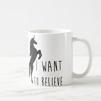 I Want To Believe Unicorn Mug