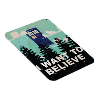 I Want to Believe Vintage Police Box Magnet