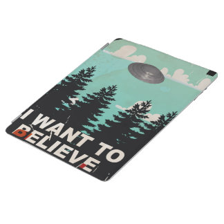 I Want to Believe Vintage UFO Poster iPad Smart Cover