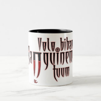 I want to drink your blood Two-Tone coffee mug