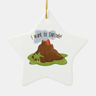 I Want To Explode Christmas Ornament
