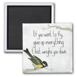 I Want To Fly 2 Inch Square Magnet