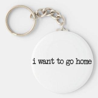 i want to go home keychain