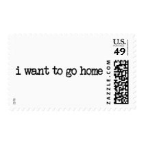 homesick, i wanna go home, nostalgic, worst trip, travel, vintage, home, i want to go home, motivational, typography, sad, postage, stamp, Stamp with custom graphic design
