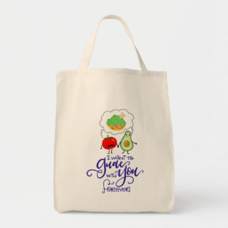 I want to Guac with You forever, hand lettered Tote Bag