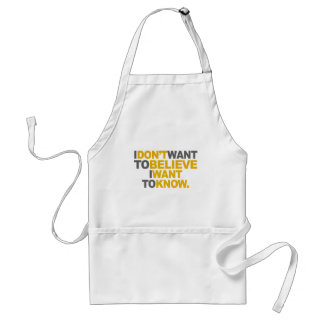 I Want To Know Adult Apron