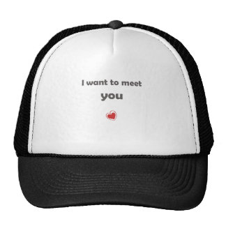 I want to meet you trucker hat