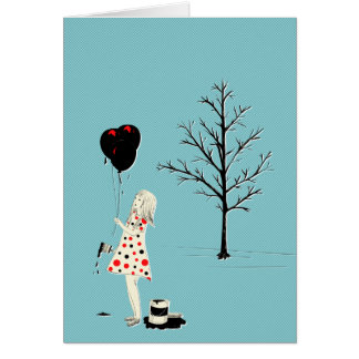 I want to paint it black greeting card