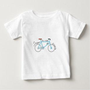 I Ride My Bike Baby Tops & T-Shirts   Zazzle
