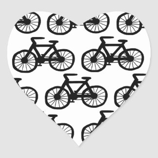 I Want to Ride my Bicycle Heart Sticker