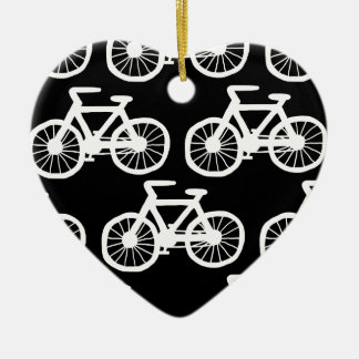 I Want to Ride my Bicycle Double-Sided Heart Ceramic Christmas Ornament