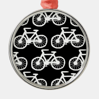 I Want to Ride my Bicycle Round Metal Christmas Ornament