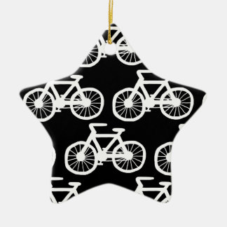 I Want to Ride my Bicycle Double-Sided Star Ceramic Christmas Ornament