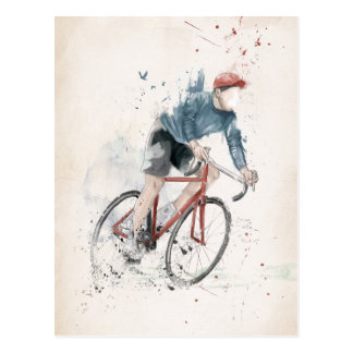 I want to ride my bicycle post card