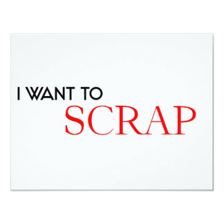 I want to Scrap Card