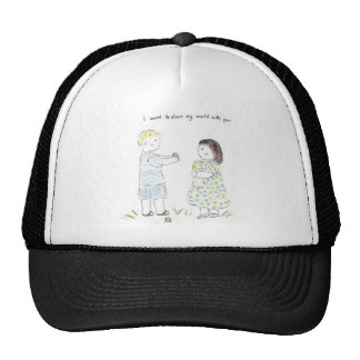 I want to Share my World with You Trucker Hat