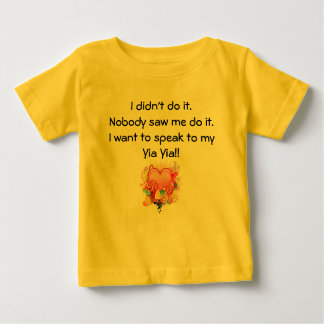 I want to speak to Yia Yia - Retro Heart Baby T-Shirt