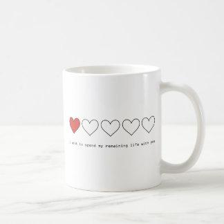 I want to spend my remaining life with you basic white mug