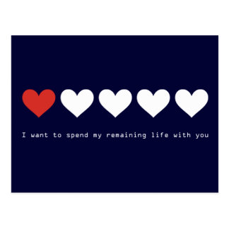 I want to spend my remaining life with you post cards
