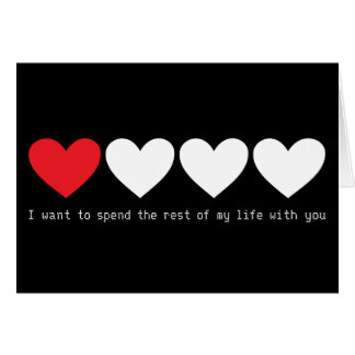 I want to spend rest of my life with you card