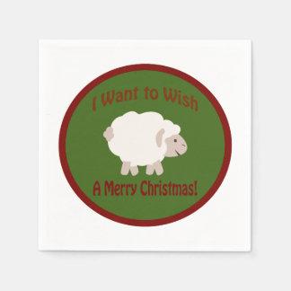 I Want to Wish Ewe a Merry Christmas Paper Napkin
