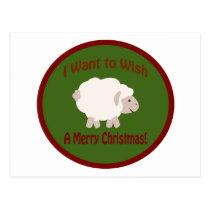 I Want to Wish Ewe A Merry Christmas Postcard