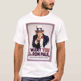 I Wan't usted para votar la reserva de RON PAUL Playera