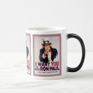 I Wan't usted para votar la reserva de RON PAUL Taza Mágica
