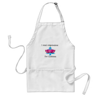I want watermelons for Christmas Adult Apron