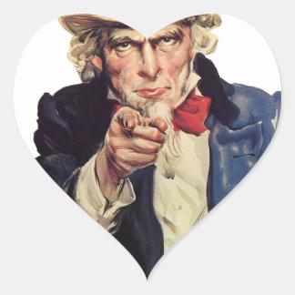 I want you, America US/USA, SAD Heart Sticker