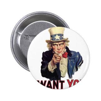 I want you, America US/USA, SAD Pinback Button
