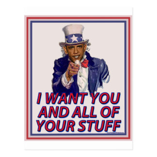 I Want You And All Of Your Stuff Postcard