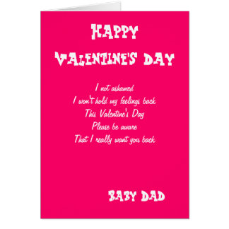 I Want You Back Baby Daddy Valentineu0026#39;s Day Cards