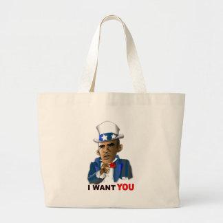 I Want You Jumbo Tote Bag