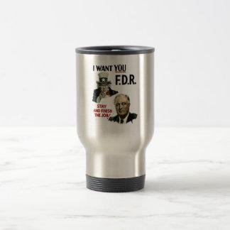 I Want You FDR -- Uncle Sam WWII Travel Mug