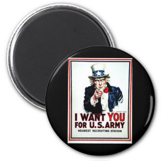 I Want You Flag Refrigerator Magnets