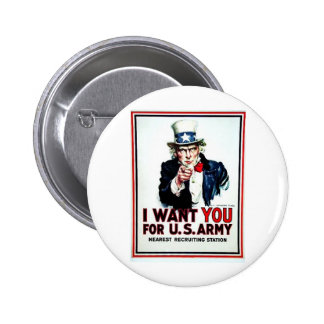 I Want You Flag Pinback Button