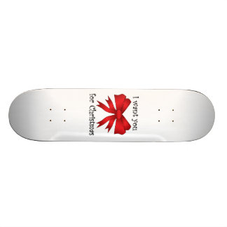 I want you for christmas with red bow custom skate board