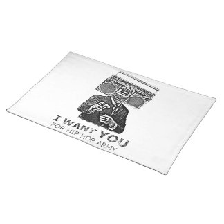 I want you for hip-hop army cloth placemat