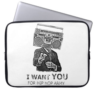 I want you for hip-hop army computer sleeve