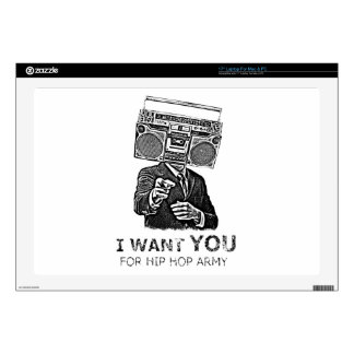 I want you for hip-hop army laptop skin
