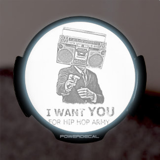 I want you for hip-hop army LED window decal